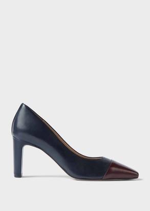 Hobbs Christina Suede Bock Heel Court Shoes