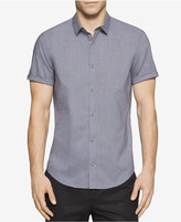 Calvin Klein Men's Tile Dobby Short-Sleeve Shirt