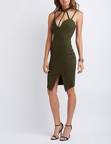 Charlotte Russe Caged Mock Neck Bodycon Dress