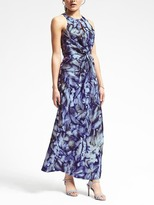 Banana Republic Piece & Co. Sun-Dyed Silk Twist-Front Dress