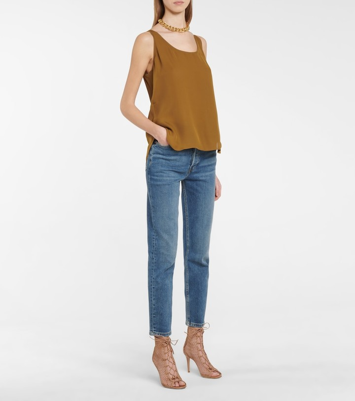 Thumbnail for your product : Dorothee Schumacher Fluid Luxury silk tank top