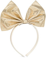 Hucklebones London - giant bow hairband - kids - Polyester/Metallized Polyester - One Size