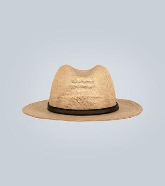 Borsalino Straw Panama hat with band