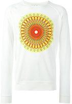 YMC abstract print long-sleeved sweatshirt