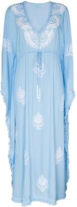 Melissa Odabash Safia tassel-trim embroidered kaftan