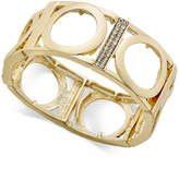 Thalia Sodi Gold-Tone Pavé Stretch Bracelet, Created for Macy's