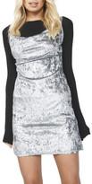 MinkPink Blue Steel Cowl Neck Dress
