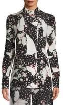 Valentino Pop Butterflies Silk Pajama Shirt