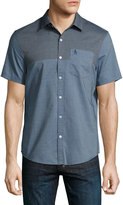 Original Penguin Colorblock Short-Sleeve Shirt, Dark Blue