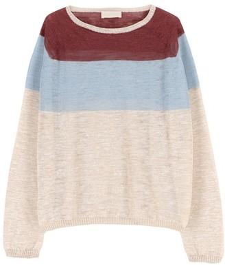 Momoni Rio sweater in striped slubbed linen