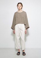 Dusan Dušan Pleated Linen Trouser