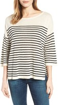 NYDJ Petite Women's Serra Stripe Sweater