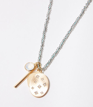 LOFT Beaded Charm Necklace