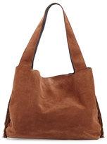 The Row Duplex Suede Satchel Bag, Saddle
