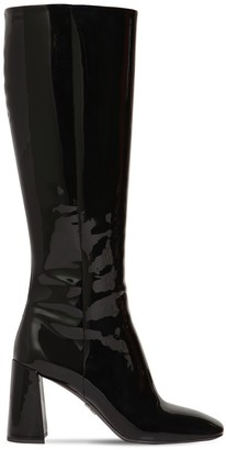 Prada 85mm Patent Leather Tall Boots