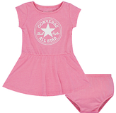 Converse Baby Chuck Patch Striped Dress and Knickers Set, Fuchsia