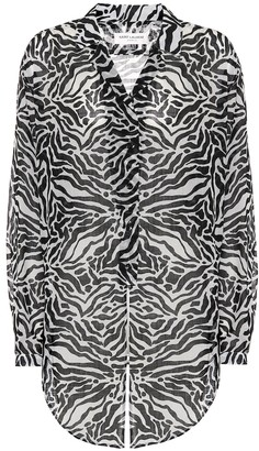 Saint Laurent Zebra-print wool shirt