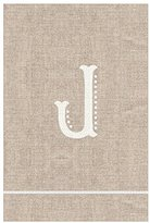 Mud Pie French Knot J Initial Towel Fingertip