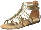 Bullboxer Girls' AED008F1S Open Toe Sandals Gold, EU