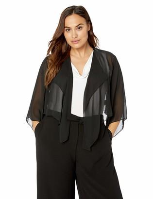 Alex Evenings Women's Plus-Size Georgette Pointed Hem Jacket/Cover-Up