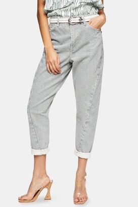 Topshop IDOL Mint Twist Seam Mom Tapered Jeans