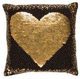 Jonathan Adler Black Heart Throw Pillow