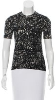 Balenciaga Wool Abstract Print Top