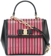 Salvatore Ferragamo striped 'Carrie' tote