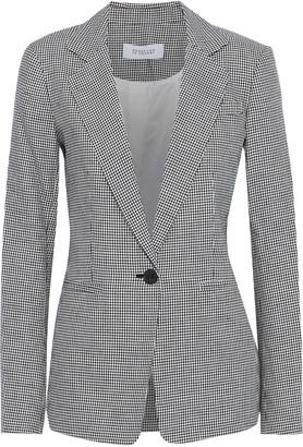 Derek Lam 10 Crosby Houndstooth Linen And Cotton-blend Blazer