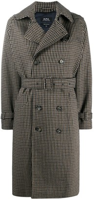 A.P.C. Houndstooth Trench Coat
