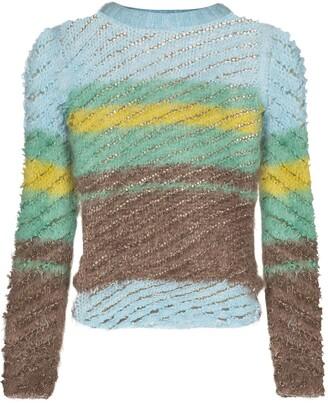 Y/Project Stripe-Pattern Ribbed-Knit Jumper