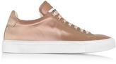 Jil Sander Antique Pink Satin Lace Up Sneaker