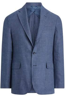 Ralph Lauren Plaid Linen-Wool Sport Coat