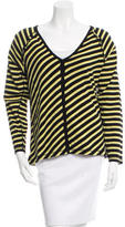 Sonia Rykiel Ruffle-Accented Striped Cardigan