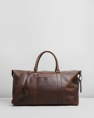 Double Oak Mills - Brown Weekender - Lyle Leather Weekender - Size One Size at The Iconic