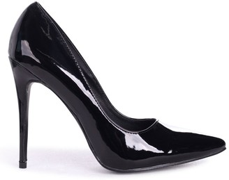 Linzi ASTON - Black Patent Classic Pointed Court Heel