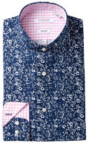 Isaac Mizrahi Mini Floral Print Slim Fit Dress Shirt