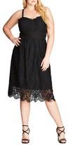City Chic Plus Size Women's Lush Lace Dress