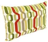 Jordan Manufacturing Outdoor Lumbar Toss Pillow - Red/Green Geometric