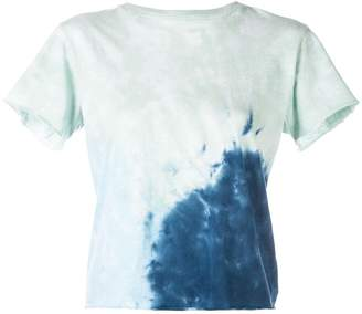 RE/DONE abstract pattern cropped T-shirt