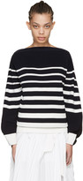 Sacai Navy Striped Laced Pullover