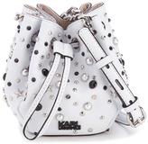 Karl Lagerfeld Women's K/Rocky Stud Drawstring Bag White