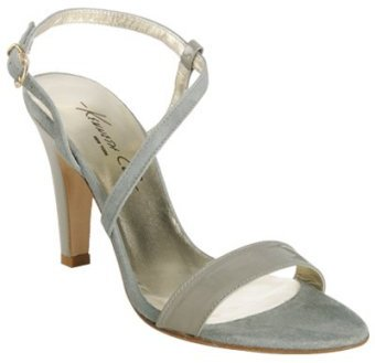 Kenneth Cole New York grey patent suede 'Martini' sandals