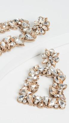 Deepa Gurnani Deepa by Gold Crystal Earrings
