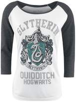 Harry Potter Women's Slytherin Grey & Raglan Long-Sleeve T-Shirt