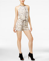 GUESS Grayson Animal-Print Romper