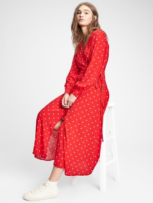 Gap Wrap-Front Maxi Dress
