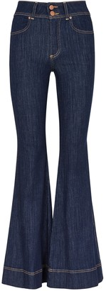 Alice + Olivia Beautiful Bell Bottom blue jeans
