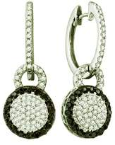 DazzlingRock Collection 0.52 Carat (ctw) 10k White Gold Round & White Diamond Ladies Dangling Earrings