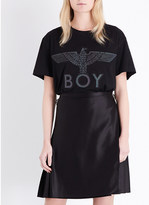Boy London Eagle-embroidered cotton-jersey t-shirt